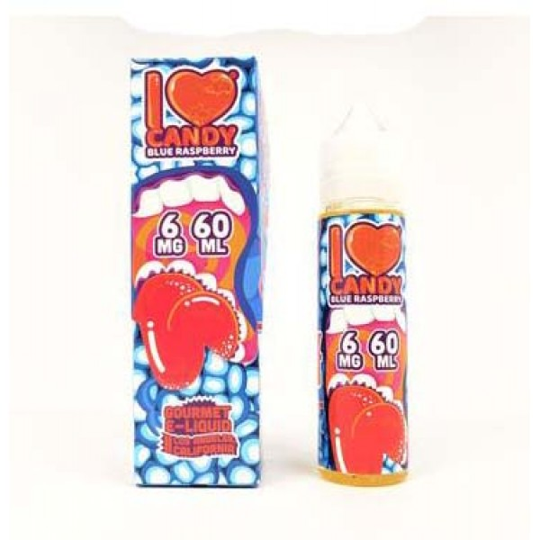 I Love Candy E-Juice By Mad Hatter  Blue Raspberry Candy 60mL