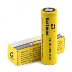 Listman IMR 20700 3.7V 3400mah Rechargeable Battery