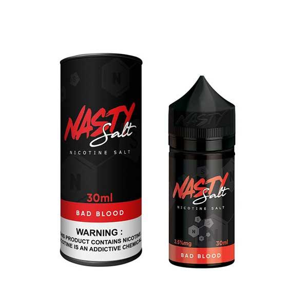 Bad Blood Nasty Salt Nic 30mL New Bottle