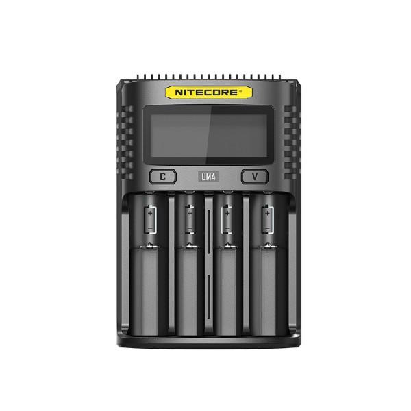 Nitecore UM4 Intelligent USB Four-Slot Charger for Li-ion, Ni-Cd, and Ni-MH