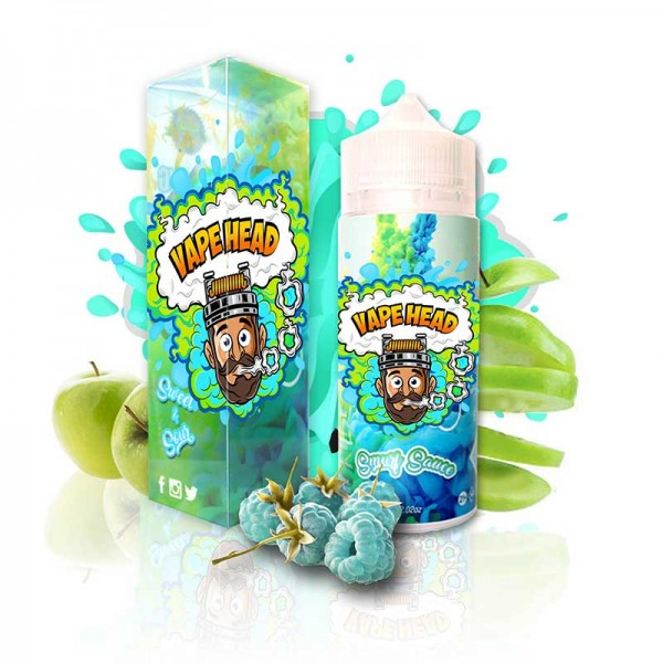 VapeHead Smurf Sauce lue Raspberry / Green Apple 120mL