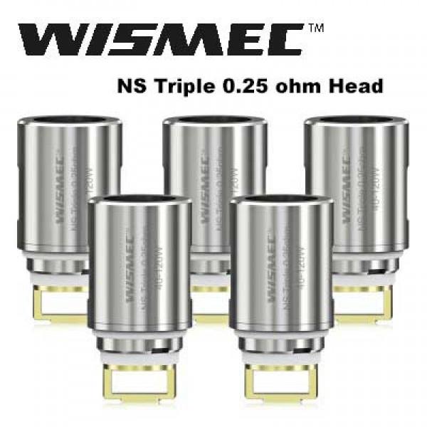 Wismec Elabo NS Triple Replacement Coil Head 0.25ohm 5pcs
