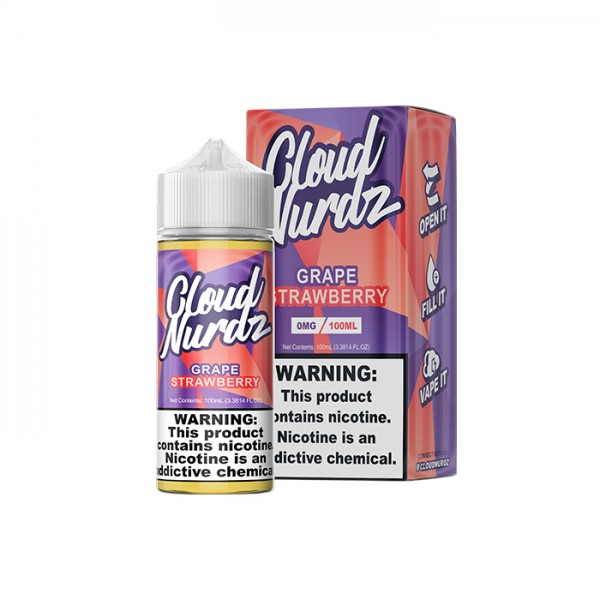 Grape Strawberry by Cloud Nurdz E-liquid - 100ML